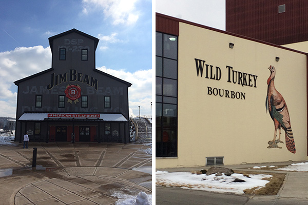 Outside the Jim Beam and Wild Turkey distilleries.